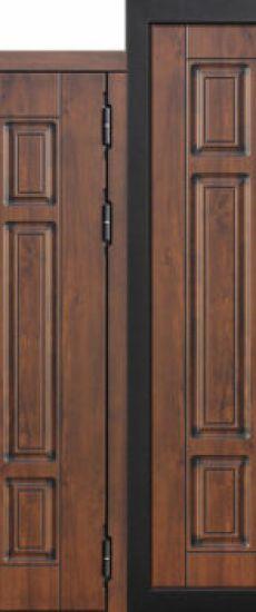 Акция- Входная морозостойкая дверь c ТЕРМОРАЗРЫВОМ 13 см Isoterma МДФ_МДФ Грецкий орех