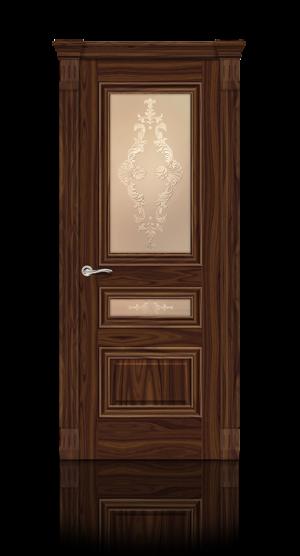 Межкомнатная дверь Элеганс-2 Американский орех стекло