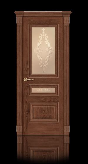 Межкомнатная дверь Элеганс-2 Дуб миндаль стекло