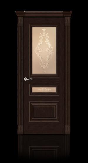 Межкомнатная дверь Элеганс-2 Венге стекло