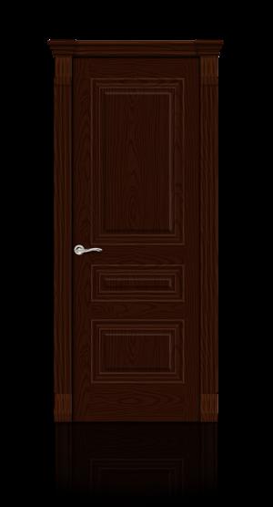 Межкомнатная дверь Элеганс-2 Ясень шоколад