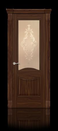 Межкомнатная дверь Онтарио Американский орех стекло