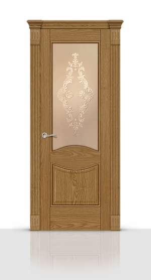 Межкомнатная дверь Онтарио Дуб медовый стекло