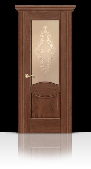 Межкомнатная дверь Онтарио Дуб миндаль стекло