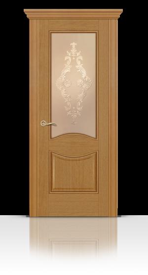 Межкомнатная дверь Онтарио Светлый анегри стекло