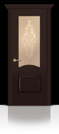 Межкомнатная дверь Онтарио Венге стекло
