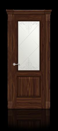 Межкомнатная дверь Бристоль Американский орех стекло