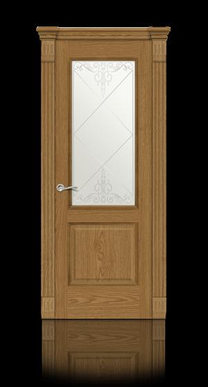 Межкомнатная дверь Бристоль Дуб медовый стекло