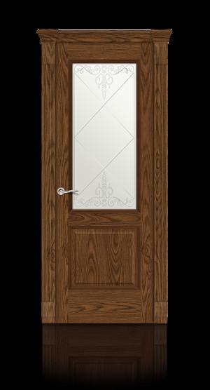 Межкомнатная дверь Бристоль Дуб моренный стекло