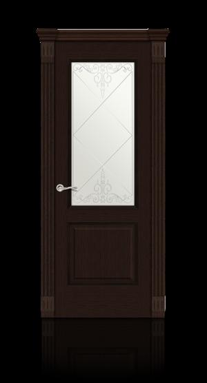 Межкомнатная дверь Бристоль Венге стекло