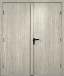 Противопожарная дверь ДПГ + ДПГ (Экошпон)3