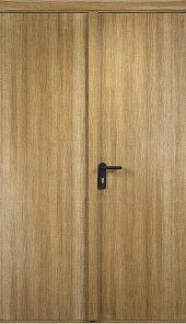 Противопожарная дверь ДПГ + ДПГ (Экошпон)4