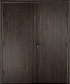 Противопожарная дверь ДПГ + ДПГ (ламинатин)3