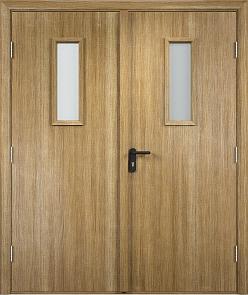 Противопожарная дверь ДПО + ДПО стекла огнеупорные (Экошпон)4