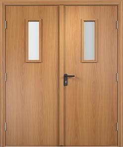 Противопожарная дверь ДПО + ДПО стекла огнеупорные (ПВХ)2