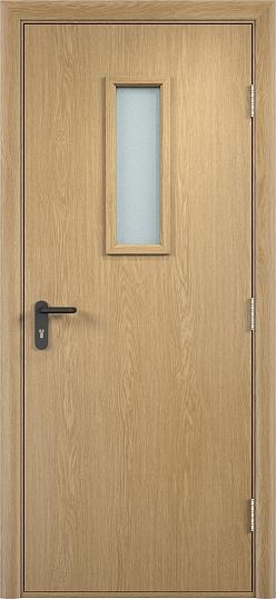 Противопожарная дверь ДПО стекло огнеупорное (ПВХ)3