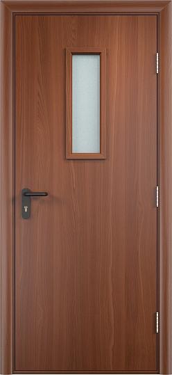Противопожарная дверь ДПО стекло огнеупорное (ПВХ)4