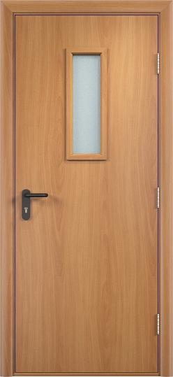 Противопожарная дверь ДПО стекло огнеупорное (ПВХ)5