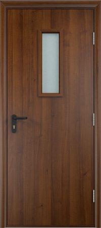 Противопожарная дверь ДПО стекло огнеупорное (ламинатин)2
