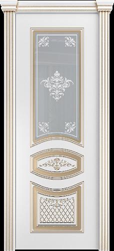 Межкомнатная дверь Элина со стеклом золото