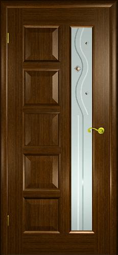 Межкомнатная дверь Иван да Марья со стеклом каштан