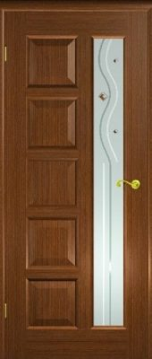 Межкомнатная дверь Иван да Марья со стеклом орех