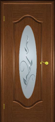 Межкомнатная дверь Орбита со стеклом орех 2