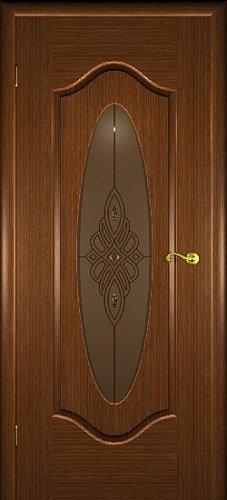 Межкомнатная дверь Орбита со стеклом орех