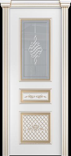 Межкомнатная дверь Венеция со стеклом золото