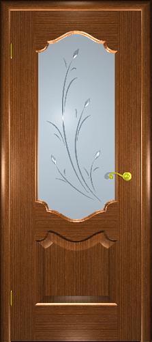 Межкомнатная дверь Верона П со стеклом орех 2