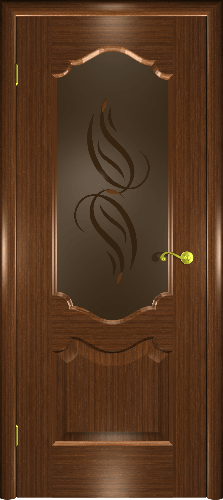 Межкомнатная дверь Верона П со стеклом орех
