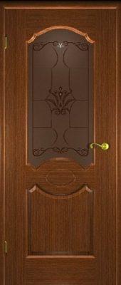 Межкомнатная дверь Карамель со стеклом орех