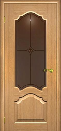 Межкомнатная дверь Верона со стеклом дуб