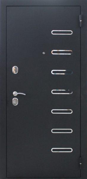 Входная дверь графит внешка