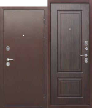 Входная металлическая дверь 10 см ТОЛСТЯК РФ Медный антик
