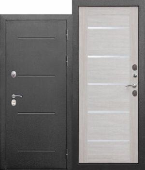 Входная морозостойкая дверь c ТЕРМОРАЗРЫВОМ 11 см Isoterma СЕРЕБРО Лиственница беж