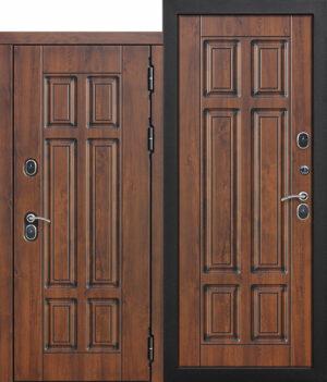 Входная морозостойкая дверь c ТЕРМОРАЗРЫВОМ 13 см Isoterma МДФ_МДФ Грецкий орех