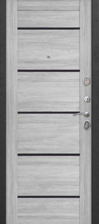 Входная дверь 7,5 см НЬЮ-ЙОРК Царга Ривьера пепельная