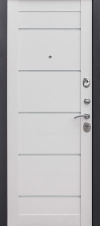 Входная дверь 7,5 см НЬЮ-ЙОРК Царга Ясень белый эмаль