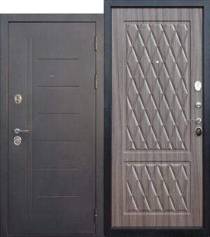 Дверь мет. 10 см Троя Серебро Палисандр Темный